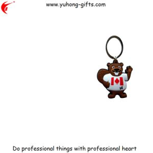 Personalized Logo Design Rubber Soft PVC Keyring (YH-KC182) pictures & photos