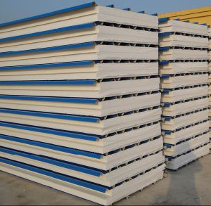 White Steel Sheet Foam EPS Insulated Sandwich Roof/ Wall Panels for Prefab House for Clean Room pictures & photos