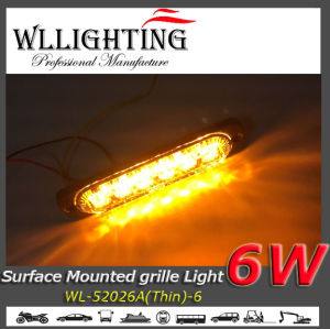 6 LED Light Head Warning Light Amber pictures & photos