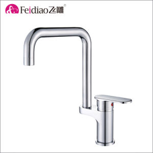 High Quality Solid Brass Chrome Plated Single Handle Kitchen Faucet