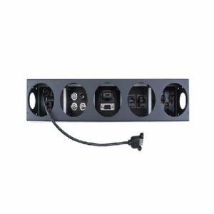 Aluminum Alloy Multimedia Desktop Socket AV HD VGA USB LAN AC Information Box pictures & photos