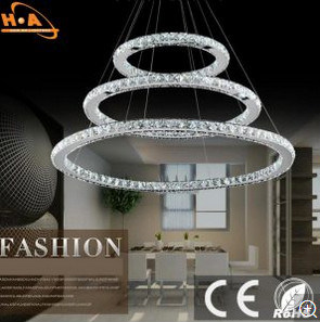 Circle Crystal Beautiful Hotel Lighting with RoHS pictures & photos