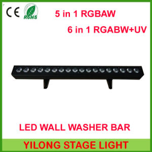 Indoor Home Decoration 18PCS Rgabwuv 6in1 LED Wall Washer Light