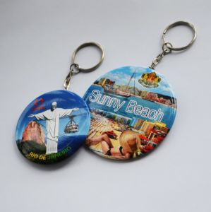 58mm Round Mirror with Keychain pictures & photos