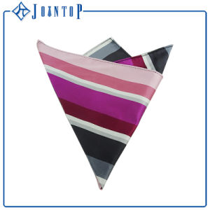 Fashion Silk Custom Pocket Square Stripes Handkerchief pictures & photos