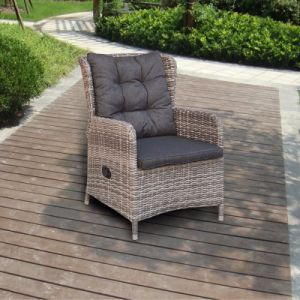 Modern Leisure Furniture Aluminum Half Round Rattan Chair for Outdoor Dining Set (J6571HR) pictures & photos