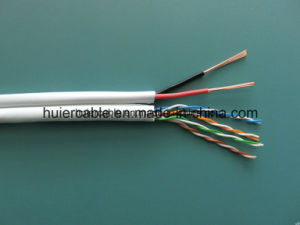 Cat5e CCTV LAN Cable with Power Wires for Security pictures & photos