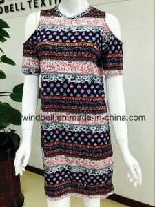 Womens Artistic Dress with All-Over Printing pictures & photos