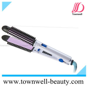 Professional 3 in 1 Multifunctional Tourmaline Ceramic Hair Iron Curler with Brush pictures & photos