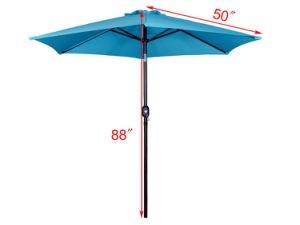Beach Umbrella Aluminum Outdoor 8FT Crank Tilt Sunshade, Patio Garden Umbrella pictures & photos