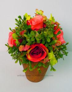 Beautiful Pleasant Artificial Rose Flower Bonsai Topiary