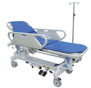 AG-HS009 Ce ISO Approved Electric with I. V. Pole Folding Stretcher with Wheels pictures & photos