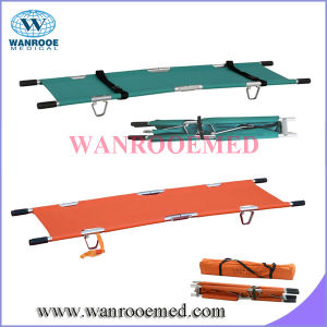 Ea-1A1 Aluminum Alloy Medical Emergency Folding Stretcher with Wheels pictures & photos