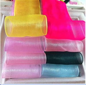 Colorful Custom Organza Ribbon pictures & photos