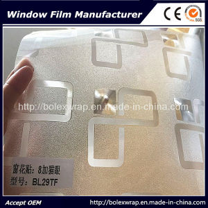 Self Adhesive Window Film, Sparkle 3D Decorative Stained Glass Window Film 1.22m*50m pictures & photos