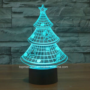 3D Illusion Night Light Chirstmas Tree Home Decoration Desk Lamp pictures & photos