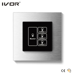 3 Gangs Lighting Switch Touch Panel with Master Control Glass Outline Frame (HR1000A-GL-L3M) pictures & photos