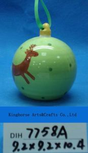 Ceramic Snowmen Handing Ball for Christmas Decoration pictures & photos