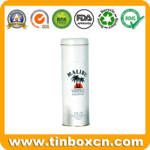 Round Vodka Container, Metal Wine Can, Whisky Tin Box pictures & photos