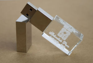 Good Design Crystal USB Flash Drive with LED Light Pendrive 1GB 2GB 4GB 8GB 16GB pictures & photos