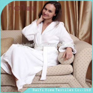 100% Cotton Terry Hotel Bathrobe with Hood