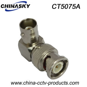 BNC Male to BNC Female Right-Angle CCTV Connector (CT5075A) pictures & photos