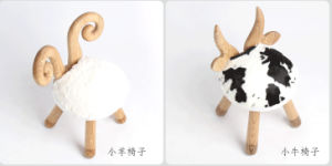 Animal Sharp Solid Wooden Kids Stool pictures & photos