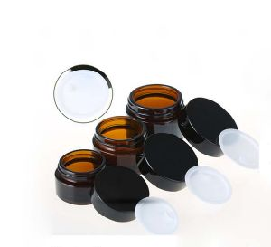 30g Amber Glass Jar for Cosmetic Cream Packaging pictures & photos