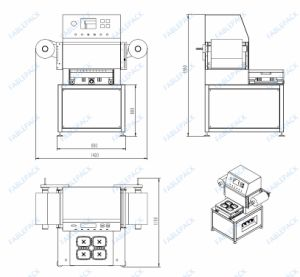 2017 Map Tray Sealer for Food Tray (FBP-450A) pictures & photos