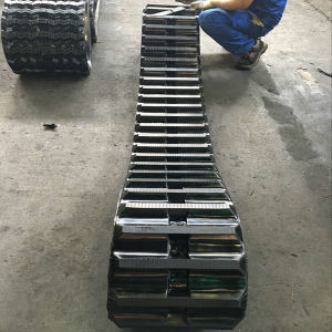 Morooka Track Carrier 3 Rubber Track 350 100 53 for Sale for Excavator/Harvester pictures & photos