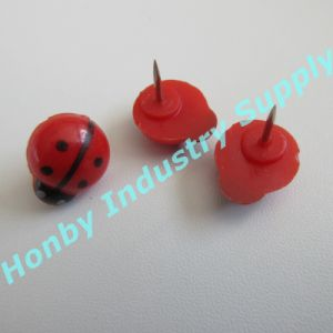 New Design 15mm Plastic Cute Beetle Head Decoration Push Pin pictures & photos