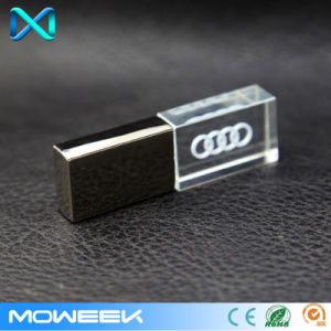 3D Logo Crystal USB 2.0 Memory Drive Stick USB Flash Drive pictures & photos
