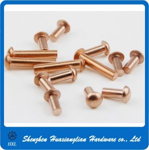 DIN 660 Copper & Steel Round Solid Head Rivet for Leather pictures & photos