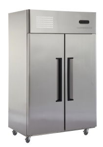 Double Temperature Type High Quality 2 Door Stainless Steel Upright Refrigerator pictures & photos