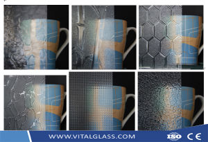 Figured Wired Pattern/Acid Etched/Sandblasting/Decoration/Tempered Shower Door/Window/Vacuum/Sheet/Glass Block Brick Glass pictures & photos