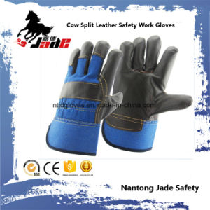 Dark Cowhide Furniture Leather Hand Safety Industrial Work Glove pictures & photos