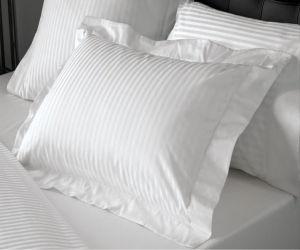 100% Cotton 1cm/3cm/5cm Luxury Stripe Hotel Pillow Case pictures & photos