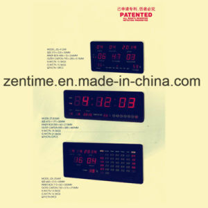 Large Size Red Emitting LED Wall Digital Clock pictures & photos