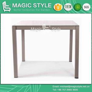 Four Colors Outdoor Aluminum Table with Glass Garden Dining Table pictures & photos
