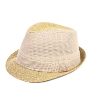 Straw Mesh Fedora Hat pictures & photos