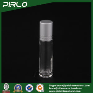 10ml Clear Glass Roll on Bottle with Metarial Roller and Silver Cap pictures & photos