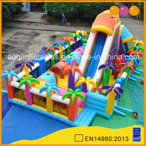 Aoqi Beautiful Coco Play School Inflatable City Playground Garden Game Giant Inflatable Fun City for Sale (AQ122-1) pictures & photos