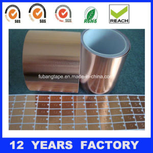 0.11micron Single Sided Copper Foil Tape with Liner pictures & photos