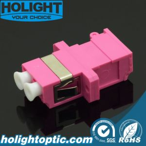 Shutter Adaptor LC Duplex Om4 Pink with Flange pictures & photos
