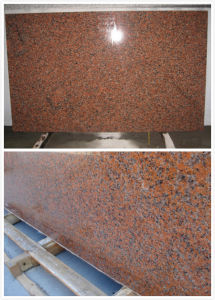 Natural Edge Gang Saw 562 Maple Red Granite Slab pictures & photos