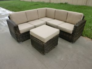 Modular Round Rattan Sofa Set with coffee Set pictures & photos