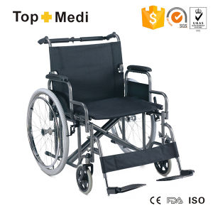 Topmedi Steel Heavy Duty Hospital Manual Wheelchair for Disabled pictures & photos
