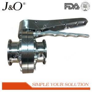 New Design Sanitary Clamp Butterfly Valve with SS Handle pictures & photos