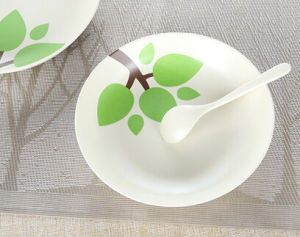 BPA Free Hot-Sell Eco Bamboo Fiber Plate (YK-P4003) pictures & photos