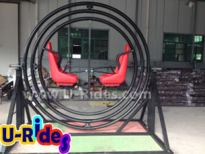 Outdoor thrilling rides human gyroscope / standing spaceball gyroscope rides pictures & photos
